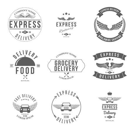 express delivery: Express Delivery Label and Badges Design elements Vector illustration