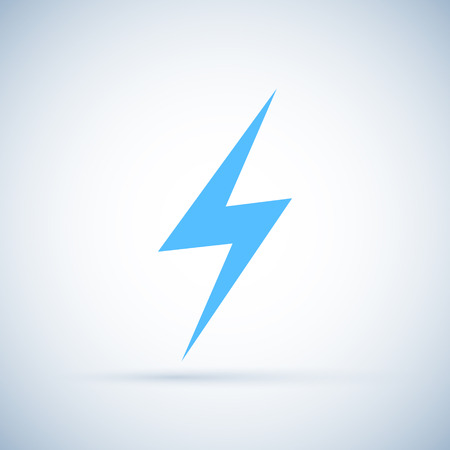 Vector lightning icon Isolated on white background Vector illustration Illustration