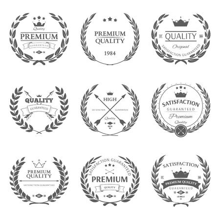 Set of premium quality labels and badges vector illustration Stock fotó - 47036625
