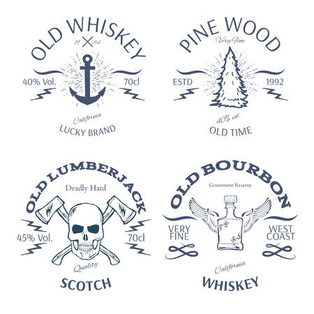 whisky: Vintage Style Whisky Label Design