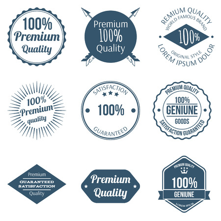 quality icon: Set of Premium Quality Badges and Labels Design