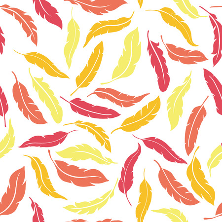 pastel color: Abstract Colorful Seamless Feathers Pattern