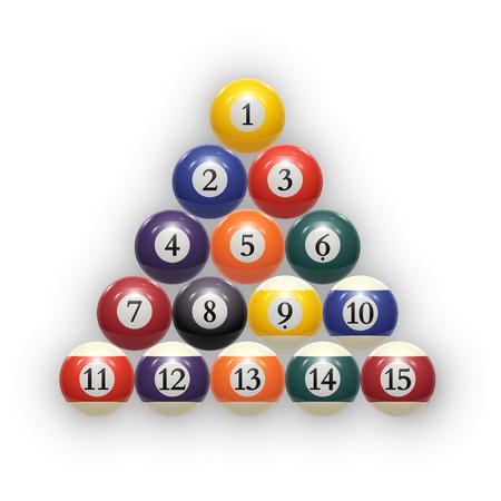 billiards rooms: Billiard balls on table