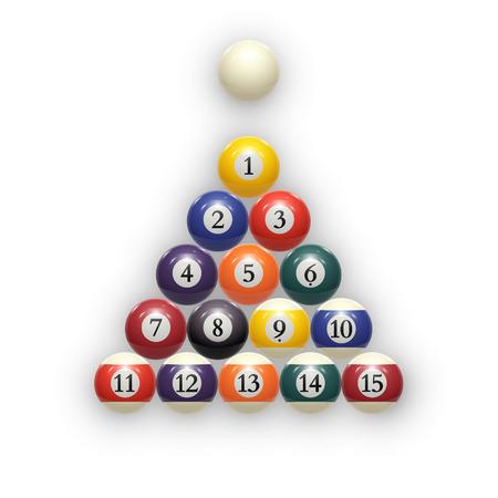recreation rooms: Billiard balls on table