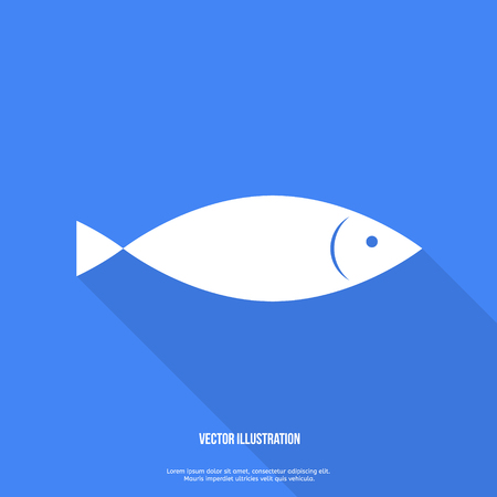model fish: Fish Icon Flat design with shadow
