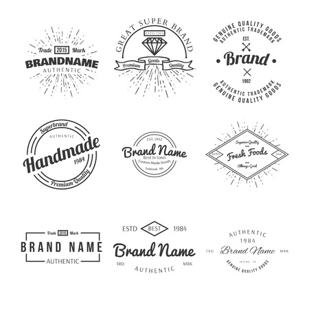 logotypes: Retro Vintage Insignia or Logotypes Illustration