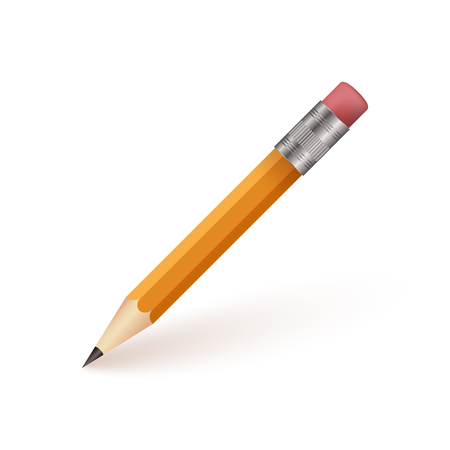 pencil and paper: Pencil Isolaed on White Background Vector Illustration Illustration