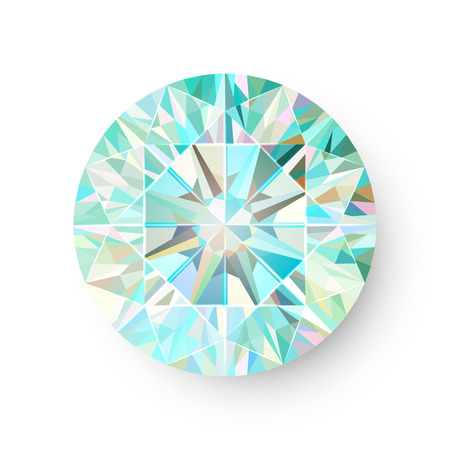 precious: Precious Gem Isolated on White Background Vector illustration