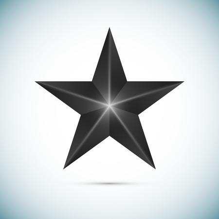 black star: Black Star Isolated on white background Vector Illustration Illustration
