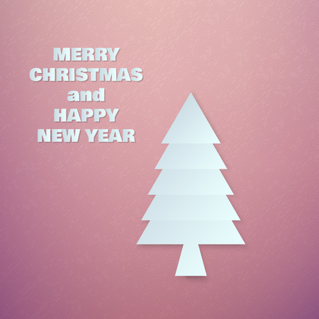 chrismas: Abstract Paper Chrismas Tree on Colorful Background Vector illustration