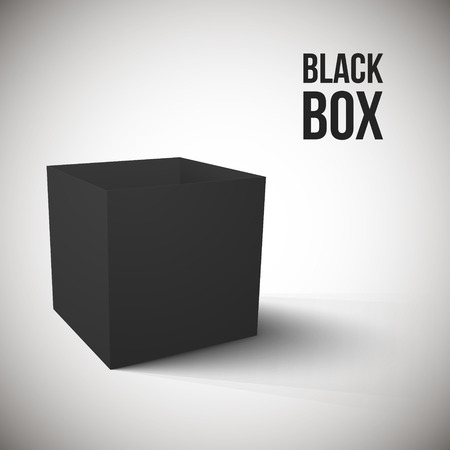 Realistic Black Box isolated on white background Vector Illustration