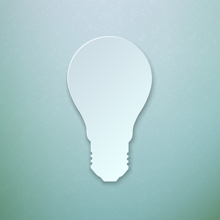 bulb light: Abstract Colorful Paper Light Bulb Vector illustration Illustration