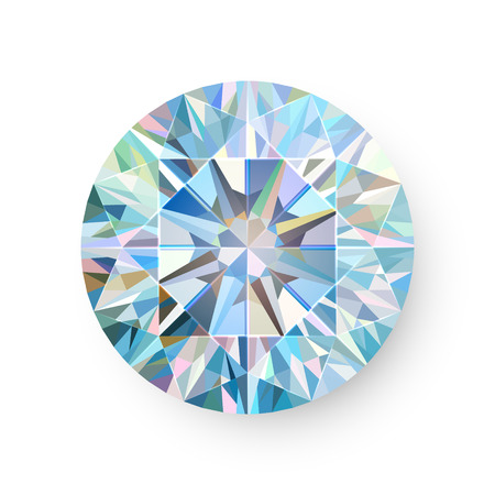 Precious Gem Isolated on White Background Vector illustration