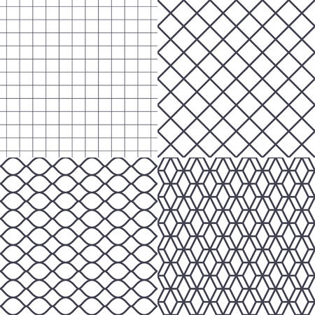 chained link fence: Net, wire and cage background vector illustration