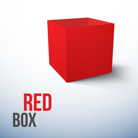 Realistic Red Box isolated on white background Vector Illustration Illusztráció