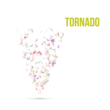 absract: Absract colorful Polygonal Tornado Vector Illustration EPS10 Illustration