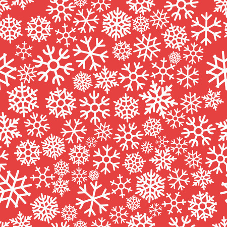 flocon de neige: Colorful Motif continu de Noël avec des flocons de neige Vector illustration