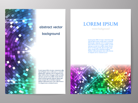 a4: Colorful Brochure design a4 template. Vector illustration