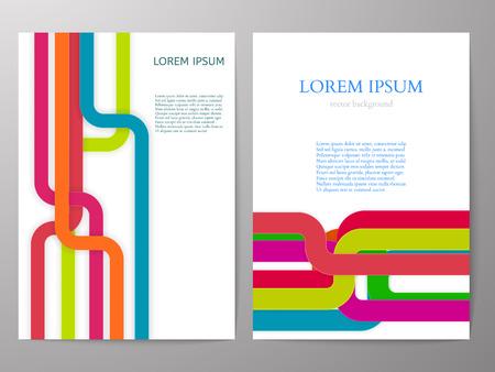 a4: Colorful Brochure design a4 template. Vector illustration