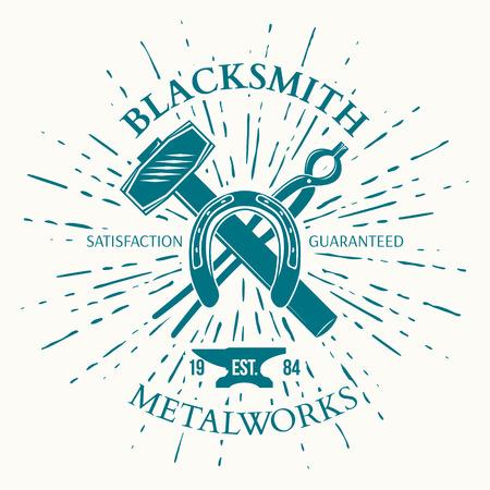 blacksmith: Blacksmith Label with vintage sun burst.