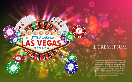 Casino Roulette Playing Cards witn Falling Chips. Vector illustration Stock fotó - 50678796