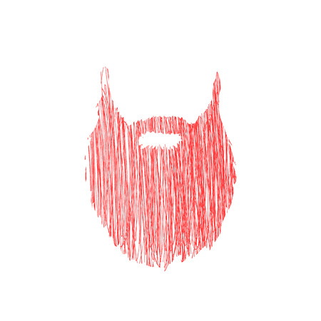 Hand drawn scribble Beard isolated on white background Vector illustration Illustration