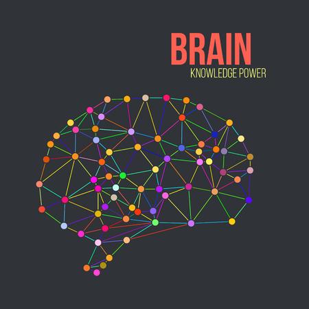 neurona: Concepto creativo del cerebro humano, ilustración vectorial Vectores