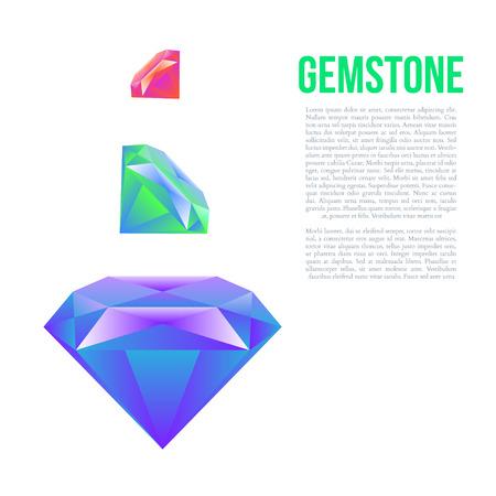 gem: Colorful gem isolated on white background Vector illustration Illustration
