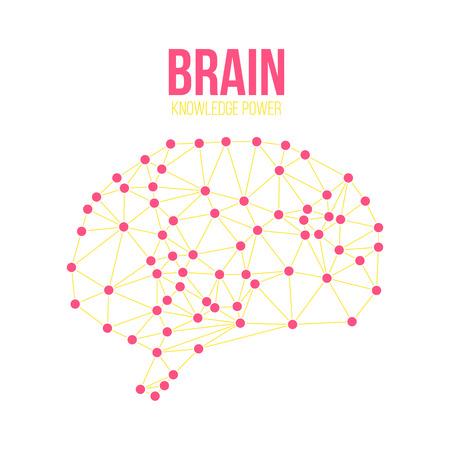 creative brain: Creative concept of the human brain, vector illustration