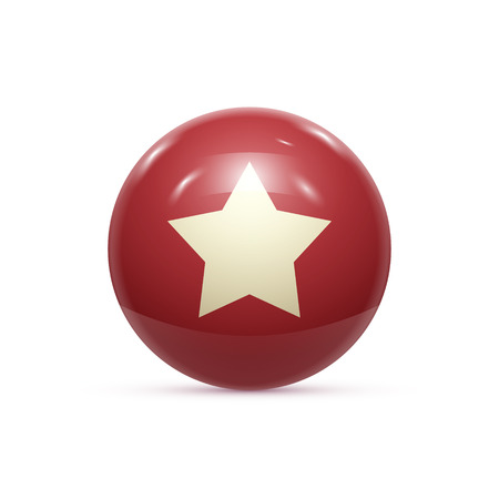 rubber ball: Rubber Ball with Star isoalted. Vector illustration