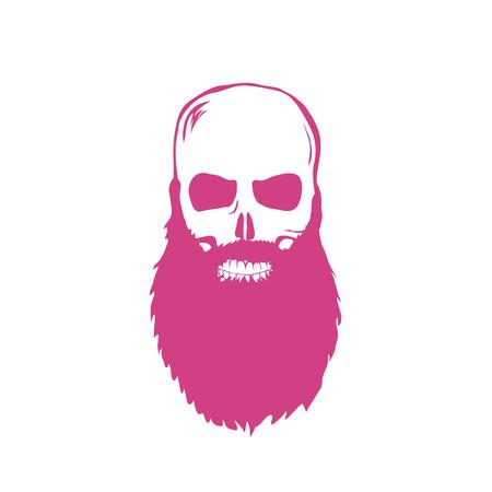 dirty t shirt: Hand Drawn Skull with beard Vector illustration