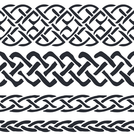 the irish image collection: Set of Celtic Pattern Borders illustration