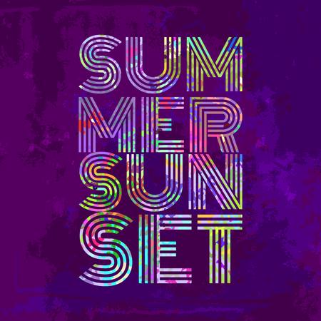 summertime: Endless Summer - Artwork for wear in custom colors.