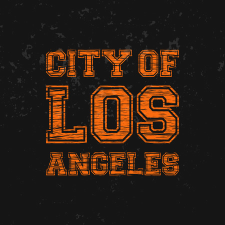 City of Los Angeles - Artwork for wear in custom colors.