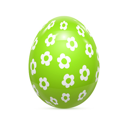 computer art: Easter Egg witnh Pattern Isolated on White Vector illustration