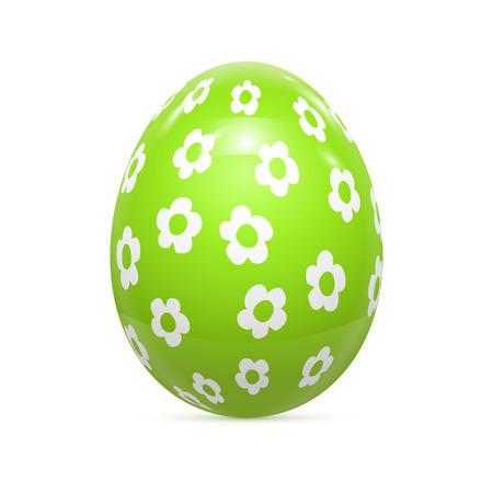 flor morada: Huevo de Pascua Patr�n witnh aislado en blanco ilustraci�n vectorial Vectores