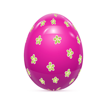 computer art: Easter Egg with Pattern Isolated on White Vector illustration Illustration