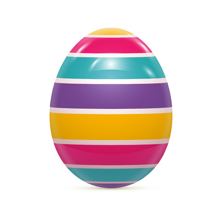 yellow art: Easter Egg with Pattern Isolated on White Vector illustration Illustration