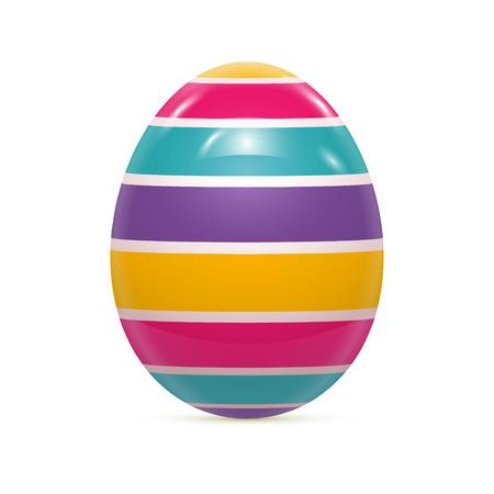 flor morada: Huevo de Pascua con el modelo aislado en blanco ilustraci�n vectorial Vectores