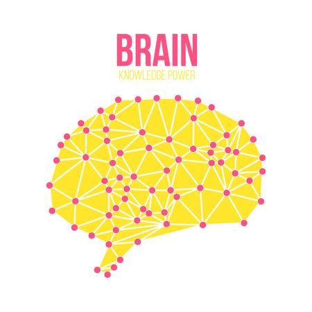 brain illustration: Creative concept of the human brain, vector illustration