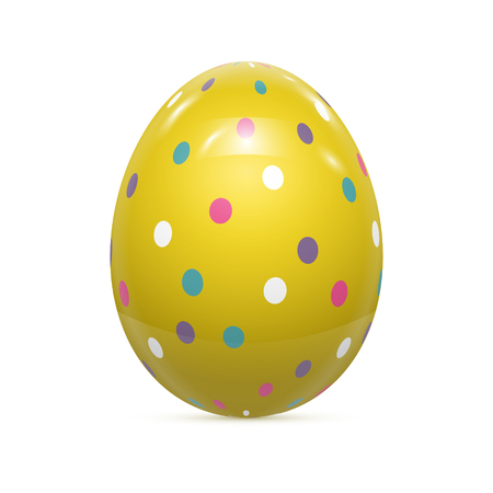 patrones de flores: Huevo de Pascua Patr�n witnh aislado en blanco ilustraci�n vectorial Vectores