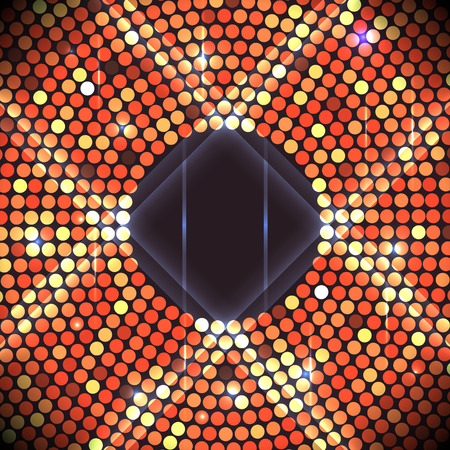 discoball: Disco party background. Ball, nightclub and nightlife, bright and shine sphere, vector illustration