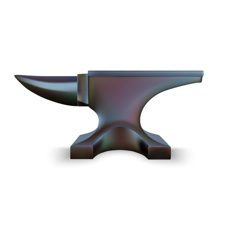 malleable: Iron Anvil isolated on white background. Vector Illustration