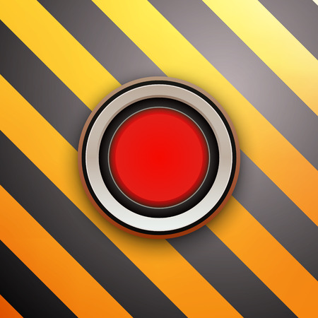 red button: Industrial Red Button. Do not press. Vector illustration Illustration