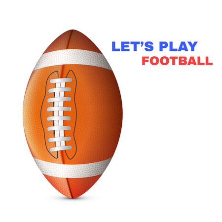 American Football isolated on White Background Vector illustration