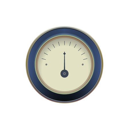 needle valve: illustration of a pressure meter gauge Vector illustration Illustration