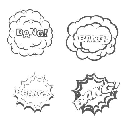 blow: Bang blast flash comics blow isolated on white vector illustration Illustration