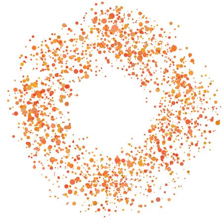 Paint Splash Spray. Abstract Blot of Dots. Explosion of Circles. Design element.