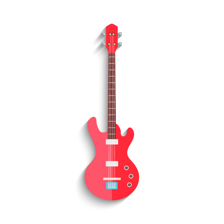 electro: Electro Guitar Flat Design isolated on white background. Vector illustration