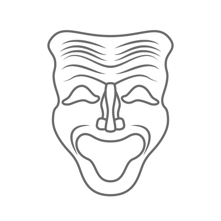 Theatrical masks isolated on white background
